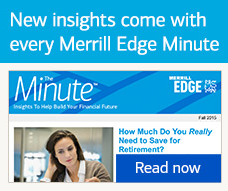 Ad tile: New insights come with every Merrill Edge Minute
